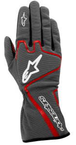 143 Anthracite Red White